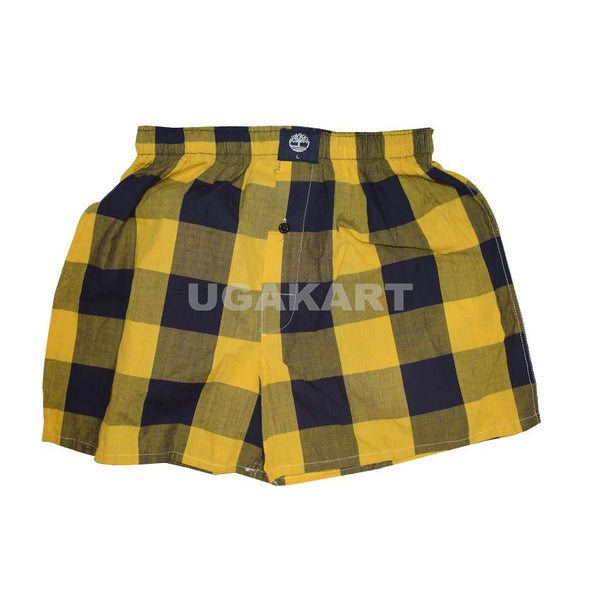 Checked Yellow And Blue Timbaland Boxers