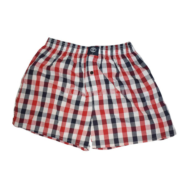 Checked Red And Blue Timbaland Boxers