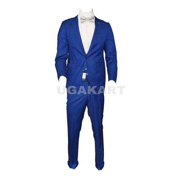 Single Button Blue Suit With White Shirt