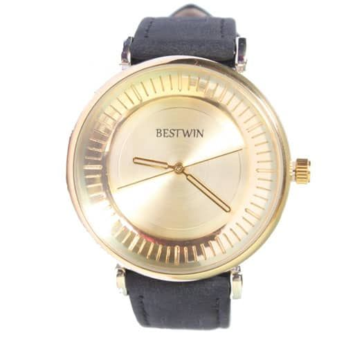 Bestwin Gold And Black Mens Watch