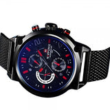Naviforce Black And Blue Mens Watch
