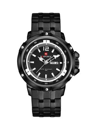 Naviforce Black Mens Watch