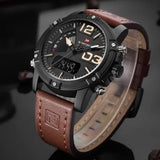 Naviforce Brown Leather Black Dail Watch