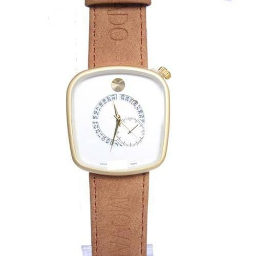 Movado Light Brown And White Watch