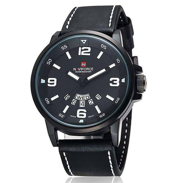 Naviforce Black Lether Watch