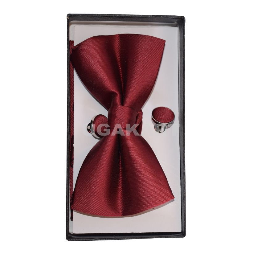 2b9e7008c4eb Buy Ruby Red Bow Tie With Cuflinks in Uganda. – UGAKART