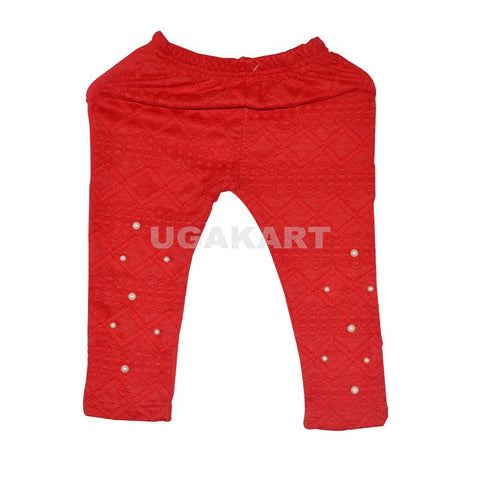 Red Babies Leggings (1 To 4 Yrs)