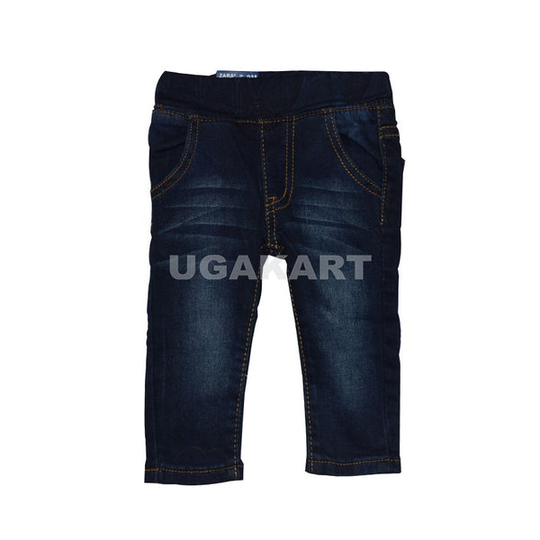 Dark Blue Kids Jeans (3 To 6 Months)