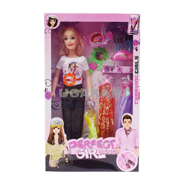 Charming Girl Black Toy Doll,Comes with Doll, Variety of Unique Dresses, Accessories