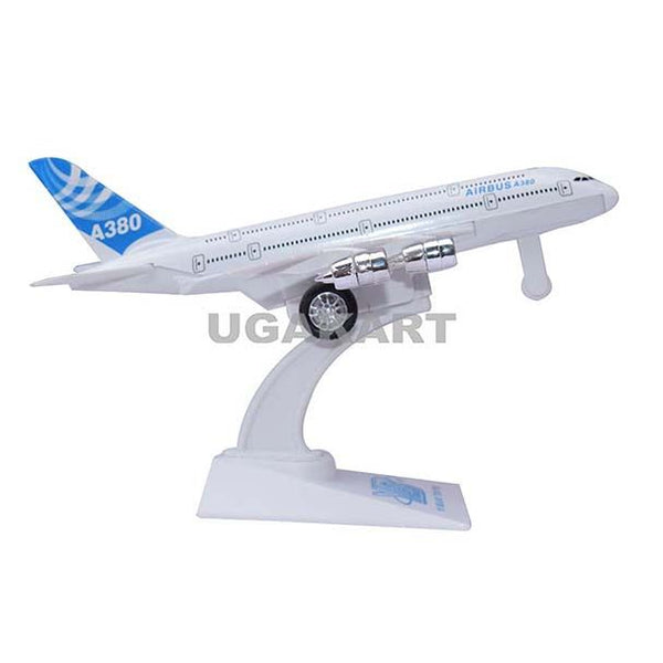 Mini Die Cast Airplane Airbus A-380 (Blue)