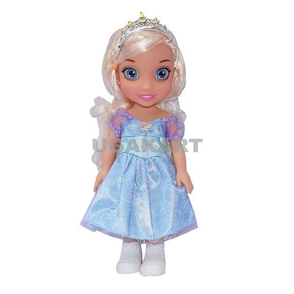 Sweet Fashion Sky Blue Doll With White Hairs