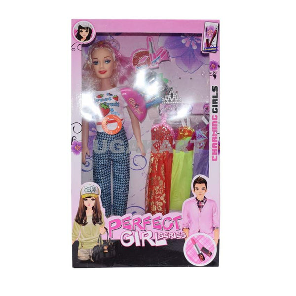Charming Girl Toy Doll,Comes with Doll, Variety of Unique Dresses, Accessories