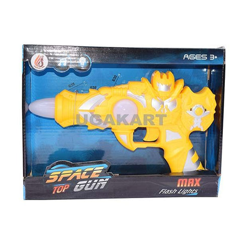 Space Top Gun With Flash Light (Yellow)