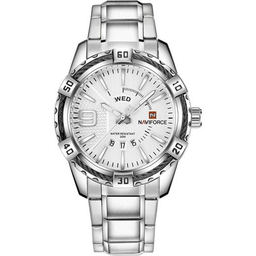 Naviforce Metalic Silver Men's Watch