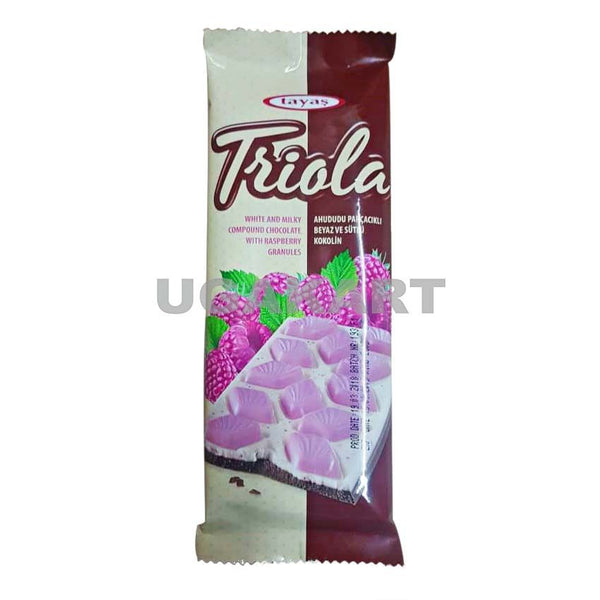 Tayas Triola White And Milky Chocolate With Raspberry Granules - 12Pcs