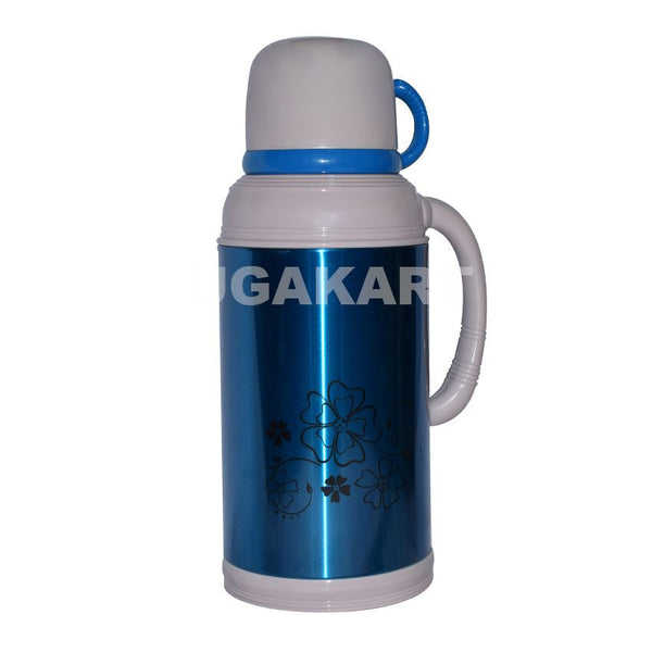 Blue And White Metal Vacuum Flask (1.8 Litre)