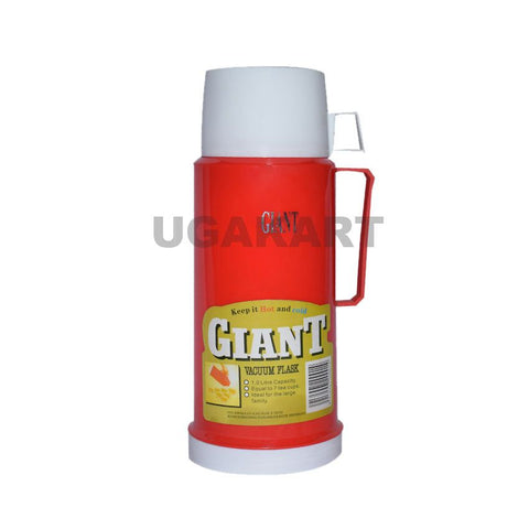 Giant Vacuum Flask Red Colour (1 Litre)