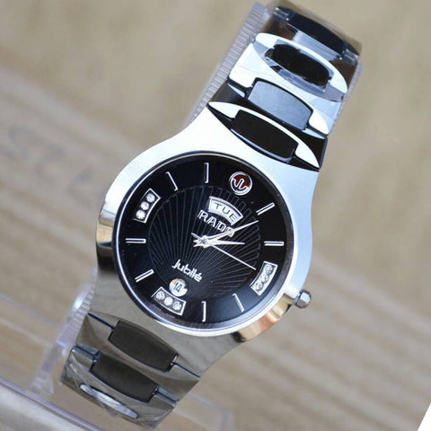 Rado Siver And Black Metallic Men's Watch