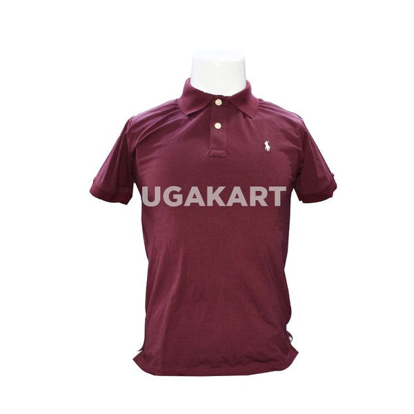 Polo Dark Maroon Short Sleaved T-Shirt with Collar