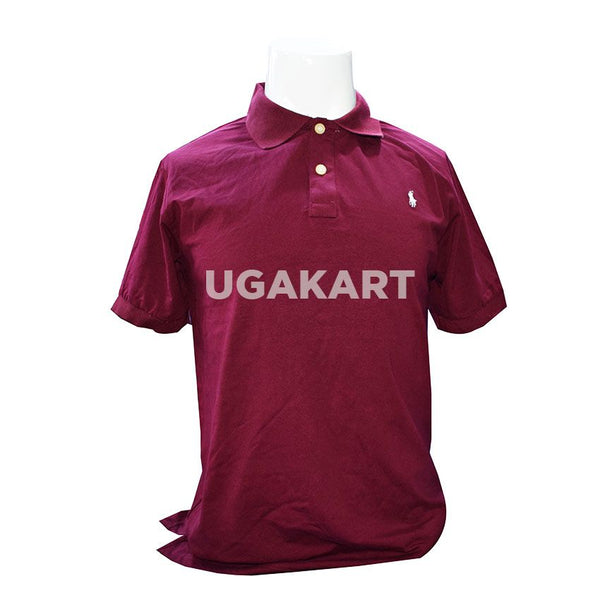 Polo Light Maroon Short Sleaved T-Shirt with Collar