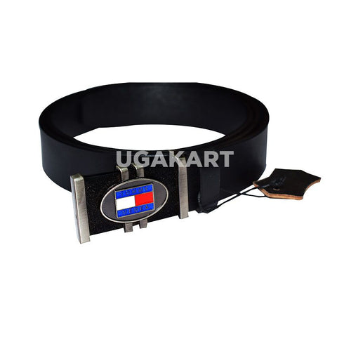Tommy Black Leather Belt