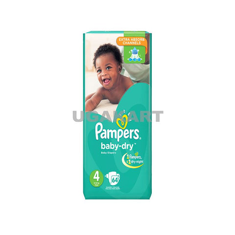 Pampers Baby Dry Diapers S4 Jumbo(9_18Kg)Maximum