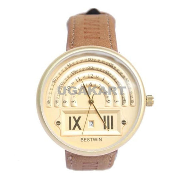 Bestwin Brown And Gold Men's Watch