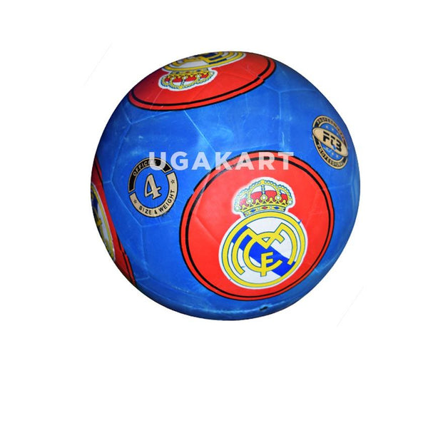 Blue Foot Ball With Real Madrid Badge