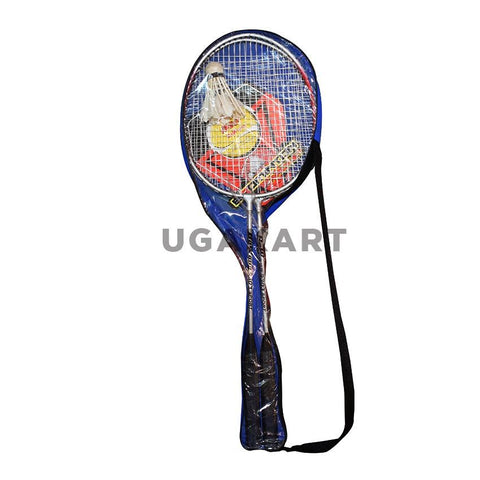 Pair Of Badminton Racket With Shuttle