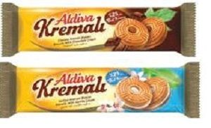 Aldiva Biscuits With Cocoa Cream 68 gm x 2 + With Vanilia 68 gm x 2 pcakage
