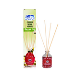 SEBU Bamboo Stick Air Freshener RED DIFUSER WHITE ROSE 50 ml