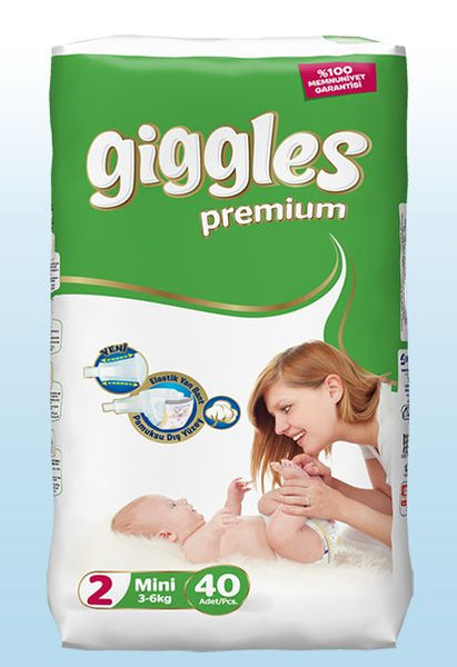 GIGGLES PREMIUM BABY DIAPER TWIN NO:2 40 PCS