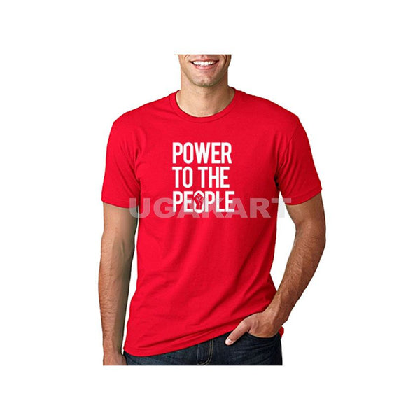 Power To The People Men's Red T-Shirt