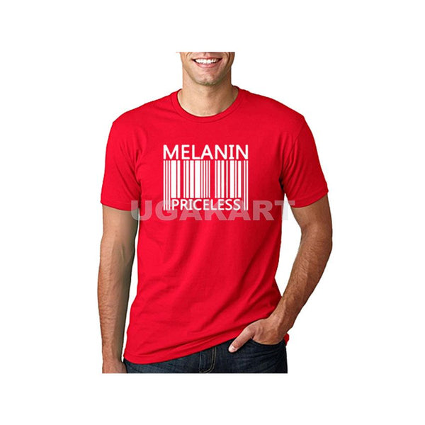 Melanin Priceless Men's Red T-Shirt