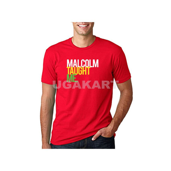 Malcolm Taught Me Men's Red T-Shirt