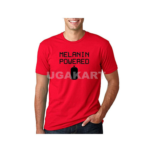 Melanin Powered Black Printed Men's Red T-Shirt