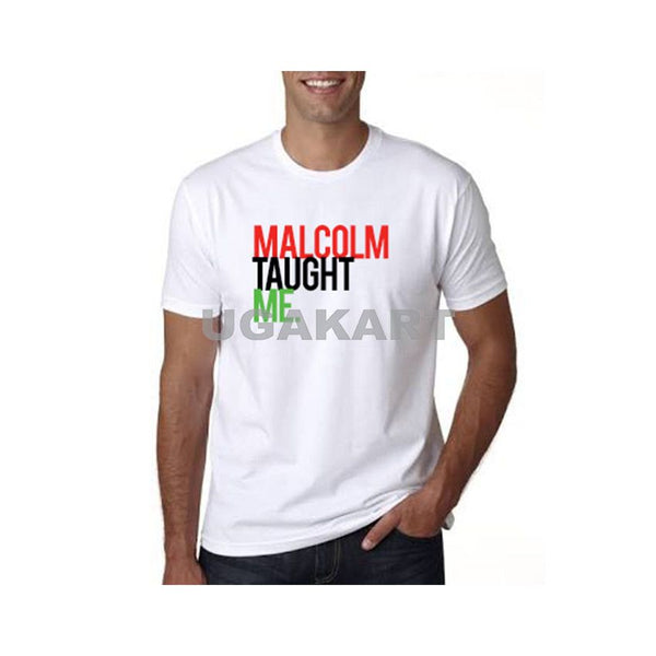 Malcolm Taught Me Men's White T-Shirt