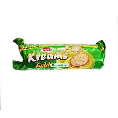 Parle Kreams Gold Pineapple Cream Biscuits 75gm