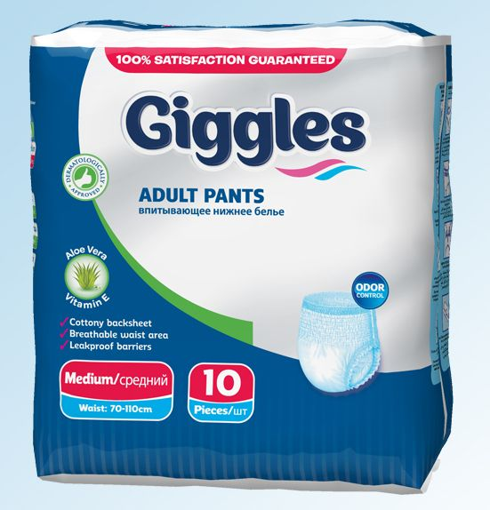 GIGGLESS ADULT PANDS MEDIUM 10 PCS