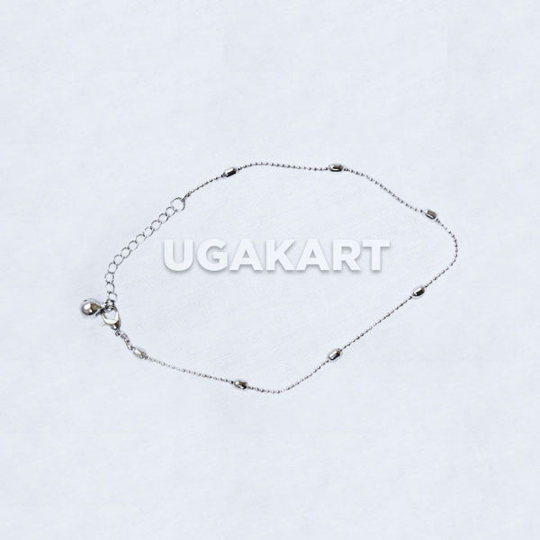 Ball Chain Silver Anklet