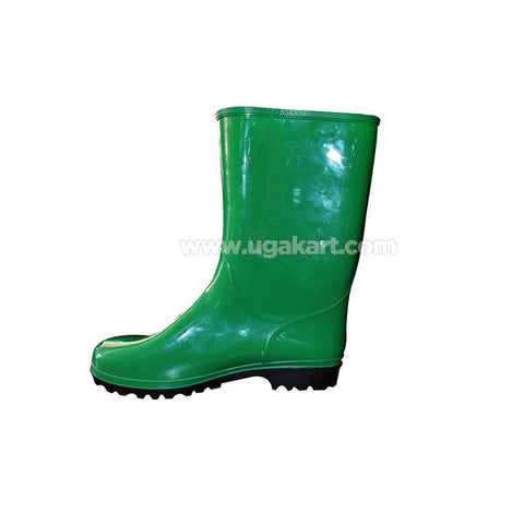 Green Gum Boots With Black Sole