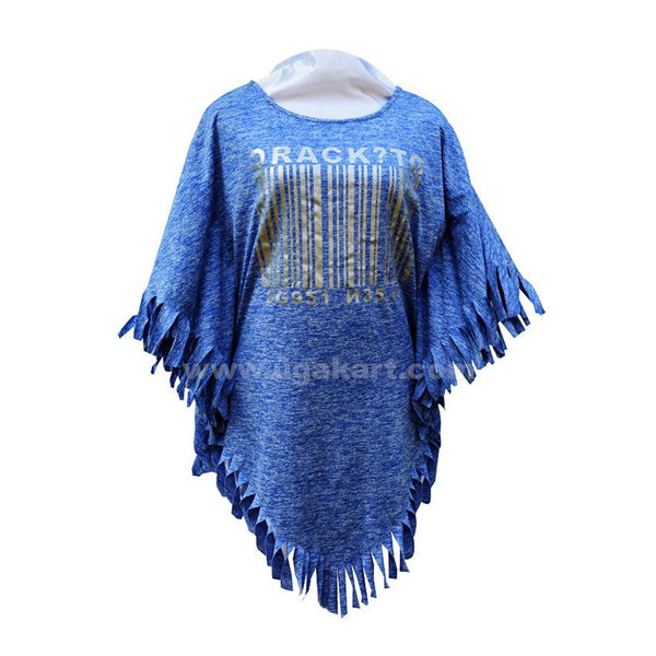 Sky Blue Ladies Water Fall Top - Free SIZE