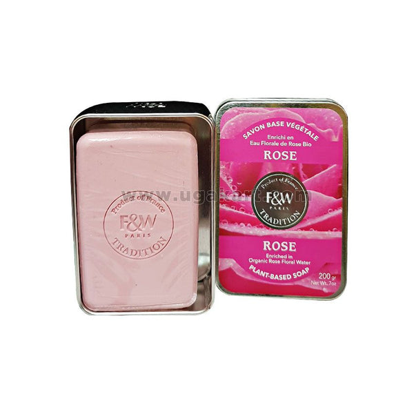 F&W Paris Tradition Rose Plant Based Soap 200gm