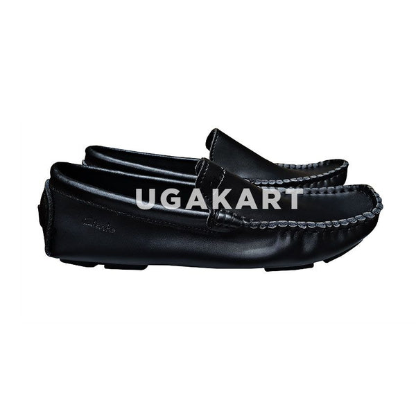 Clarks Black Moccacins (7 to 15 yrs)
