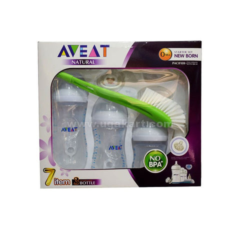 AVEAT Natural Starter Set New Born 7 Item 3 Bottle