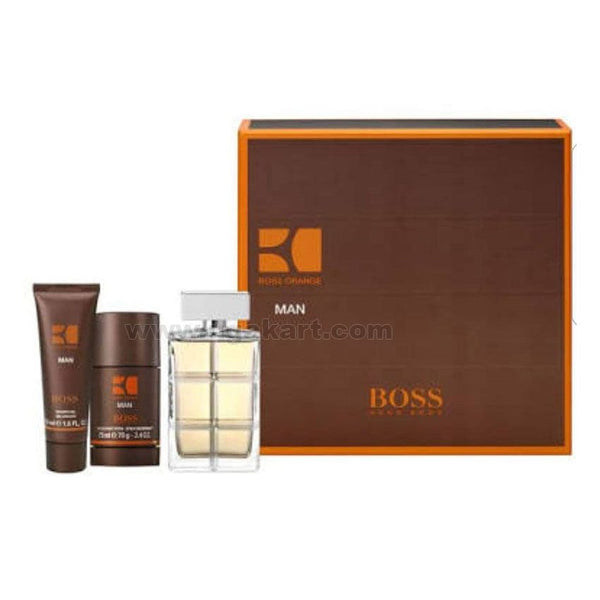 BOSS For Men Set of Three Perfume, deodrannt And Gel