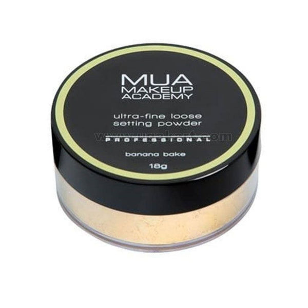 MUA Make Up Academy Ultra Fine Loose Setting Powder Professional Banana Bake 18g