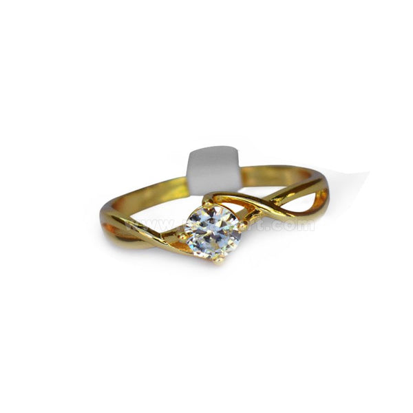 Gold Ring With Diamond Stone