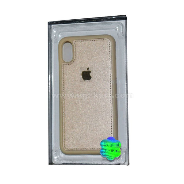Golden Phone Cover For I phone X (s view cover)