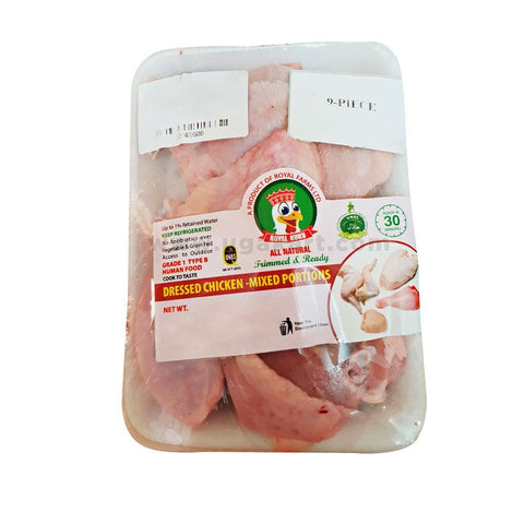 ROYAL KUKU Dressed Chicken Mixed portion (7PC) 500gm